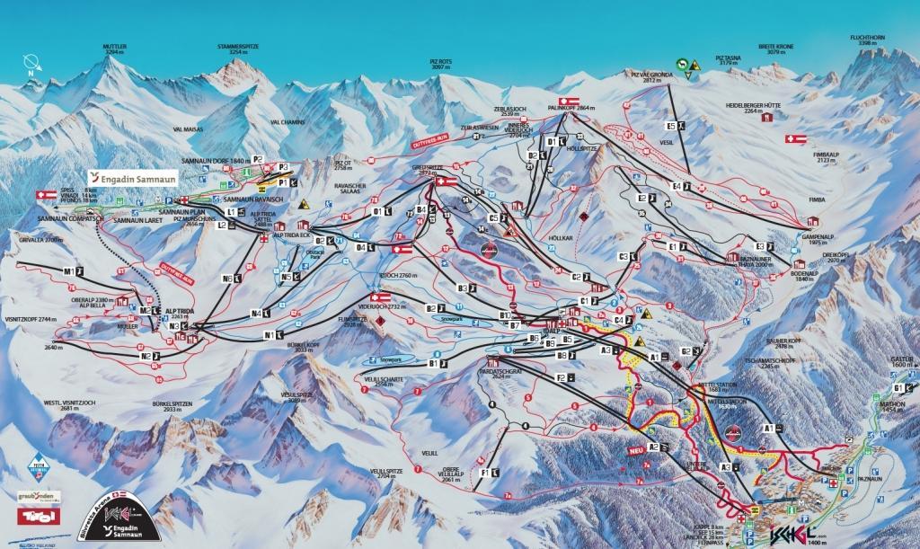 Skikaart Ischgl - Silvretta Arena